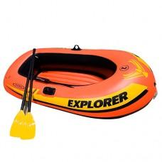 Лодка EXPLORER 58332 на 2 человек, весла, ручной насос