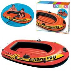 Лодка EXPLORER PRO 100 58355 160-94-29см, надувная, на 1 чел