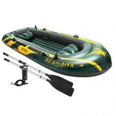 Лодка SEAHAWK 68351 338-127-50 см, весла, насос