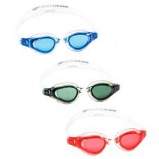 Очки для плавания 21068 регулир.ремешок, 3цвета