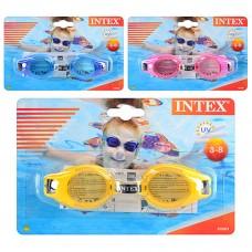 Очки для плавания 55601 с защитой от ультрафиолетовых лучей для детей 3-8 лет, 3 цвета