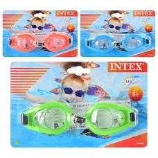 Очки для плавания 55602 с защитой от ультрафиолетовых лучей для детей от 8 лет, 3 цвета