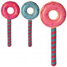 Игрушки надувные MSW 064 пончик/леденец, 87см, микс цветовке
