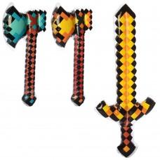 Игрушки надувные MSW 066 меч62см /топор 70см, 2 видаке
