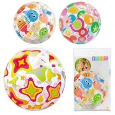 Мяч 59040 пляжный надувной разноцветный, для детей от 3 лет, 51см