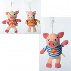 Мягкая игрушка MP 1698 свинка, размер маленький, присоска, 3цвета