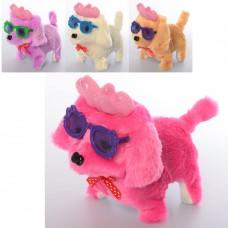 Собака MP 2092 16 см, ходит, звук, свет, очки