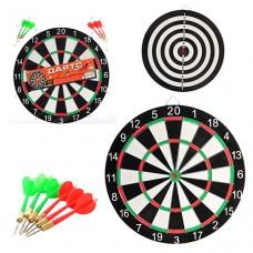 Дартс MS 0097 Спортивная игра, двухсторонний, дротики с иглой 6 шт, в слюде, 46, 5-49-1, 5см