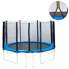 Батут MS 0497 диаметр 305 см, с сеткой h150 см, на пружинах – 64 шт, лестница, выдерживает массу человека до 180 кг