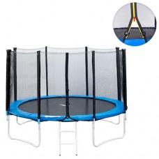 Батут для взрослых с защитной сеткой Profi MS 0501 диаметр 427 см, лестница