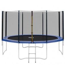 Батут Profi MS 0822 диаметр 366 см, с сеткой, лестница