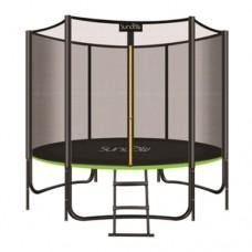 Батут для взрослых с защитной сеткой Profi MS 2920-1 диаметр 183 см, лестница