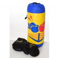 Боксерский набор M 6122 груша 35см, перчатки2шт, 3вида, в сетке