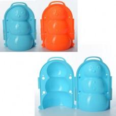 Снежколеп MS 1268 снеговик, 20см, 3D, чемодан, 2 цвета