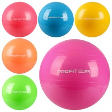 Мяч для фитнеса-65см MS 0382 Фитбол, 65 см, 900 грамм, 6 цветов