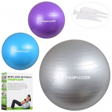 Мяч для фитнеса-65см MS 1576 Фитбол, резина, 65см, 900г, 3цвета