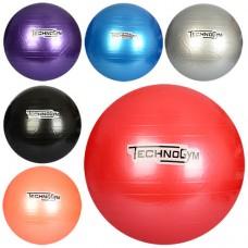 Мяч для фитнеса-75см MS 0983 Фитбол, резина, 1100г, 6 цветов