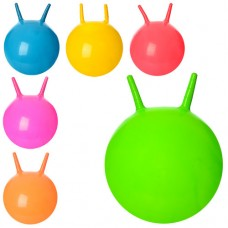 Мяч для фитнеса MS 0938 с рожками, 38см, 310г, 6 цв