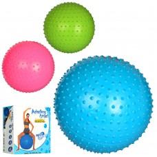 Мяч для фитнеса MS 1968 Фитбол, 60см, массажный, резина, 850г, 3цвета