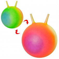 Мяч для фитнеса MS 2493 с рожками, 45см, радуга, 400грке