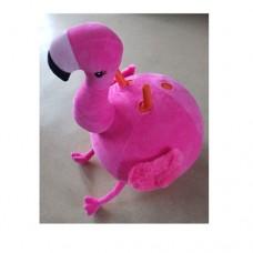 Мяч для фитнеса MS 2932 с рожками, 45 см, ткань, фламинго