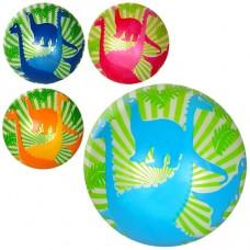 Мяч детский MS 1291 9дюймов, дракон, полноцветный, 60г, 4цвета