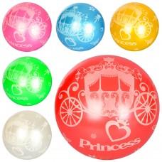 Мяч детский MS 1588 9дюймов, карета, рисунок, 1вид, 6цветов, 60-65г