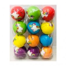Мяч детский фомовый MS 2988 6, 3см, единорог, микс видов, упаковка 12шт