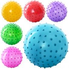Мяч массажный MS 0021 Детский, 3 дюйма, 20 грамм, 6 цветов