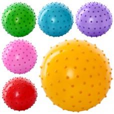 Мяч массажный MS 0022 Детский, 4 дюйма, 25 грамм, 6 цветов