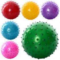 Мяч массажный MS 0663 Детский, 5 дюймов, 30 грамм, 6 цветов