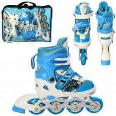 Ролики детские раздвижные Profi A 12100-7-S-BL, размер 31-34, синий