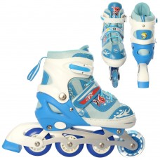 Ролики детские раздвижные Profi A 19200-2-L, размер 39-42, синий