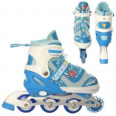Ролики детские раздвижные Profi A 19200-2-M, размер 35-38, синий