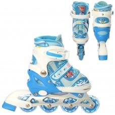 Ролики детские раздвижные Profi A 19200-2-S, размер 31-34, синий