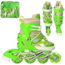 Ролики детские раздвижные Profi A 20131-S-GR, размер 28-33, зеленый
