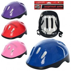 Шлем MS 0014-1 26-20-13см, 6отверстий, разм.средний, регулир.ремешок4цвке