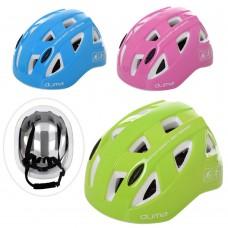 Шлем MS 2517 размер средн, 19-13-25см, 14отверстий, 3цвета, регулир.ремешокке