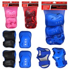 Защита MS 0338 Защитная экипировка для роликов и скейтов, защита для коленей, локтей, запястий, 4 цвета, в сетке