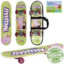 Скейтборд детский Profi LT 0028 Лунтик, салатовый