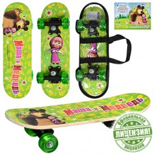 Скейтборд детский Profi MM 0010 Маша и Медведь, салатовый