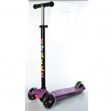 Самокат детский iTrike JR 3-003-E MAXI, черно-фиолетовый