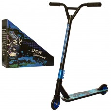 Самокат трюковый iTrike SR 2-027-2, черно-синий