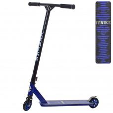 Самокат трюковый iTrike SR 2-053-T9-BBL, черно-синий