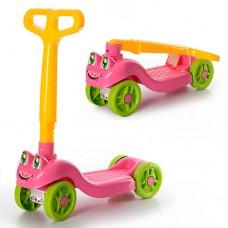 Самокат детский Технок 3657, желто-розовый