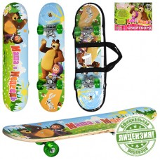 Скейтборд детский Profi MM 0009 Маша и Медведь, зеленый