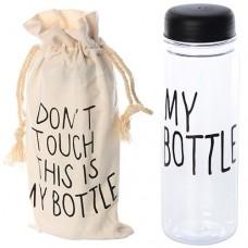 Бутылочка MS 0426 спортивная, 19см, пластик, в сумке