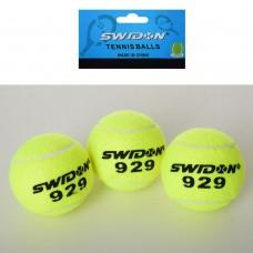 Теннисные мячи MS 1178-1 3шт, 6, 5см, 1 сорт, 40% натур шерсть, тренировке