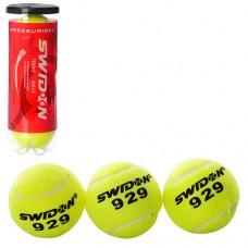 Теннисные мячи MS 1178 3шт, 6, 5см, 1 сорт, 40% натур шерсть, трениров, в колбе