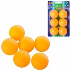 Теннисные шарики MS 0226 40мм, PP, бесшовный, 1 упаковка 6шт